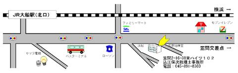 事務所周辺の地図