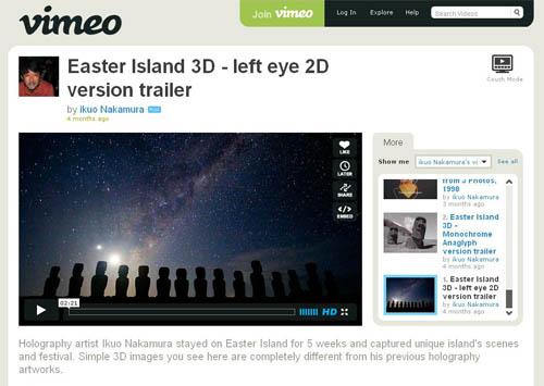 Easter Island 3D - left eye 2D version trailer