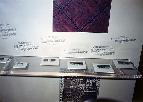 microprocessors at Smithsonian Museum in 1988