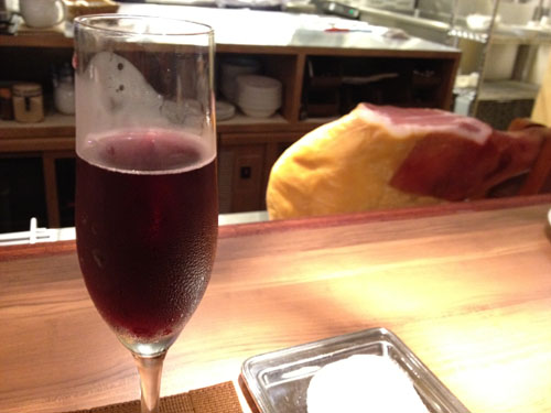 生シャンパンの赤